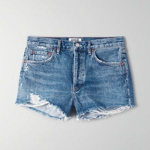 Agolde Parker denim jean shorts Rocksteady